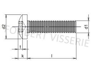 Plan-vis-metaux-tete-cylindrique-bombee-large-din7985-torx