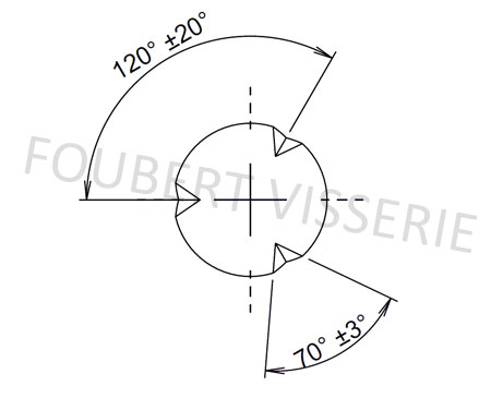 Empreinte-Goupille-cannelee-conique-din1471-iso8744