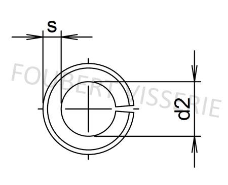 Empreinte-Goupille-elastique-fendue-din1481-iso8752