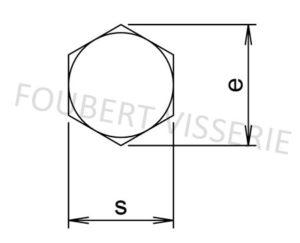 Empreinte-Vis-a-bois-tete-hexagonale-tirefond-din571
