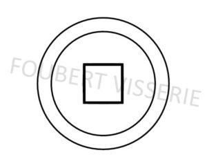 Empreinte-Vis-autoperceuse-tete-cylindrique-bombee-empreinte-carree-din7504m