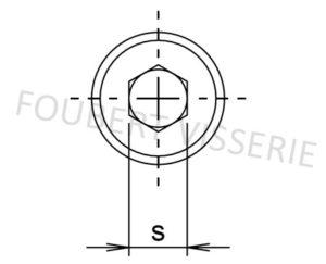 Empreinte-Vis-metaux-tete-cylindrique-basse-hex-creuse-filetage-din7984