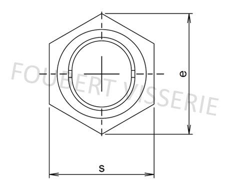 Empreinte-ecrou-autofreine-tout-metal-din980v-iso7042
