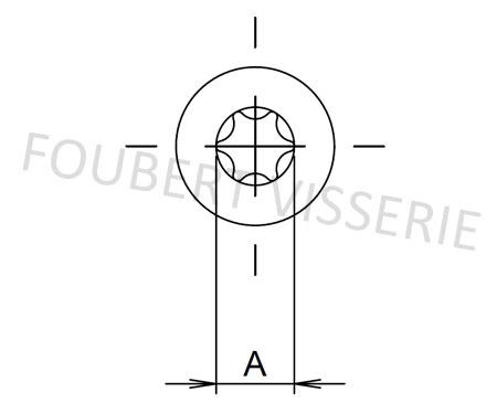 Empreinte-vis-a-tole-tete-cylindrique-bombee-iso14585c