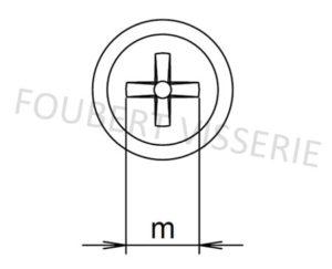 Empreinte-vis-autoperceuse-tete-cylindrique-bombee-phillips-din7504n
