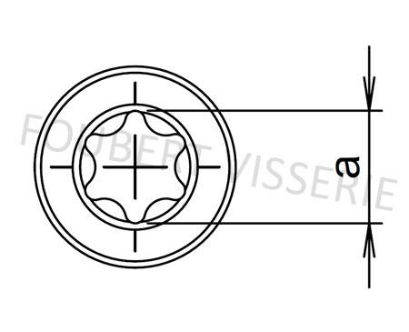 Empreinte-vis-metaux-tete-cylindrique-basse-torx-iso14580