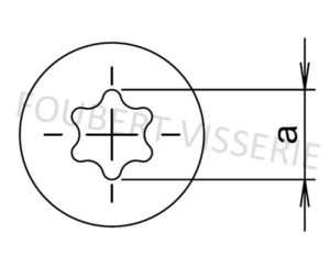 Empreinte-vis-metaux-tete-fraisee-torx-iso14581