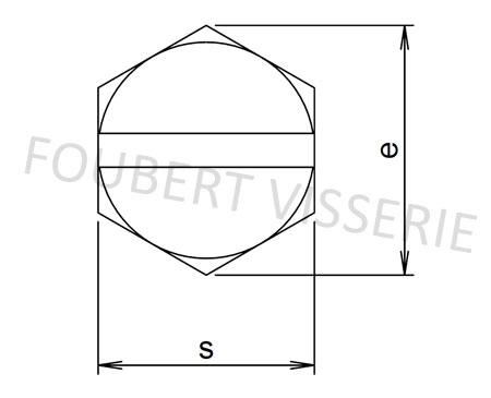 Empreinte-vis-metaux-tete-hexagonale-fendue-din933