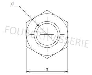 Plan-Ecrou-autofreine-simple-fente-esn-h100