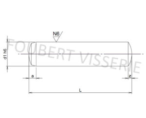 Plan-Goupille-cylindrique-trempee-rectifiee-h6-din6325-iso8734