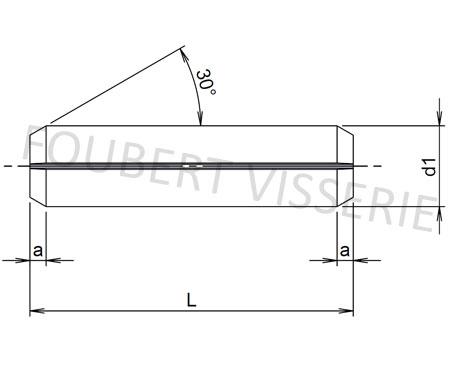 Plan-Goupille-elastique-fendue-din1481-iso8752