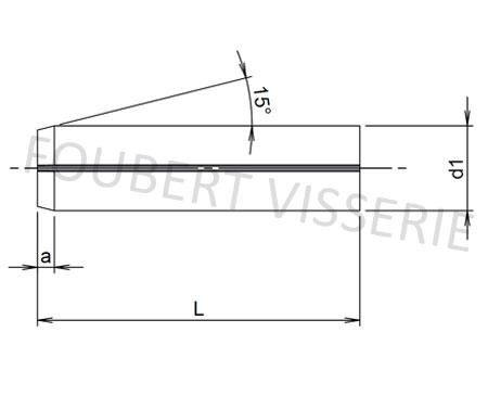 Plan-Goupille-elastiques-fendue-din1481-iso8752