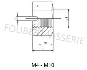 Plan-ecrou-creneau-m4-m10-din935