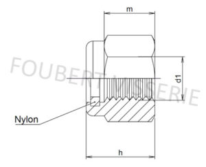 Plan-ecrou-frein-bague-nylon-din985