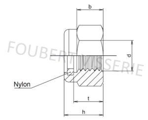 Plan-ecrou-frein-bague-nylon-haut-din982