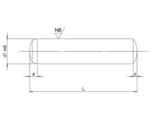 Plan-goupille-cylindrique-trempee-rectifiee-m6-din6325-iso8734