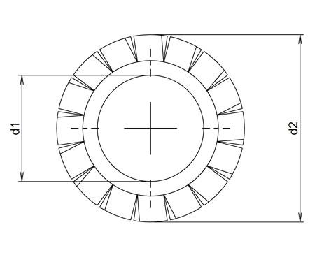 Plan-rondelle-eventail-a-denture-exterieure-din6798a
