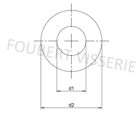 Plan-rondelle-plate-moyenne-m