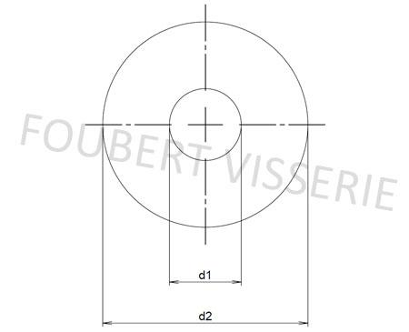 Plan-rondelle-sans-chanfrein-din9021-iso7093