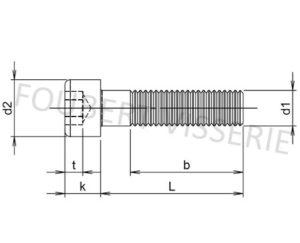 Plan-vis-a-metaux-tete-cylindrique-hex-creuse-filetage-partiel-din912-iso4762