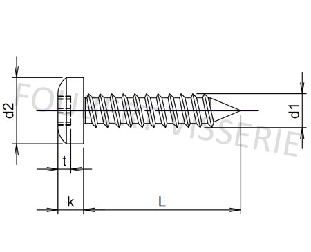 Plan-vis-a-tole-tete-cylindrique-bombee-iso14585c