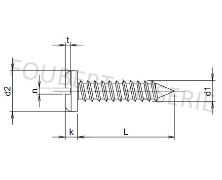 Plan-vis-a-tole-tete-cylindrique-large-fendue-avc-pointe-din7971-iso1481