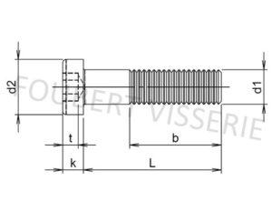 Plan-vis-metaux-tete-cylindrique-basse-hex-creuse-filetage-partiel-din7984