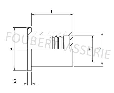 1-plan-Ecrou-a-sertir-cylindrique-tete-plate-lisset-etanche-inox