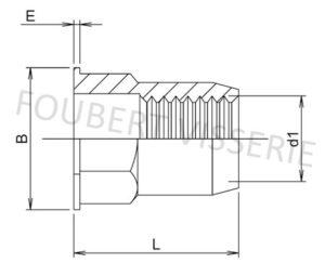1-plan-Ecrou-noye-semi-hexagonale-tete-plate