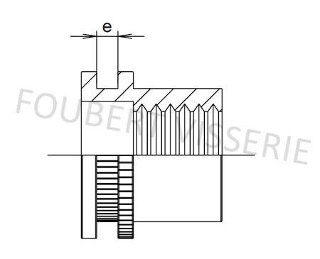 2-Plan-Ecrou-a-sertir-cylindrique-tete-plate-molete-ouvert-acier