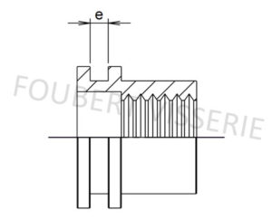 2-plan-Ecrou-a-sertir-cylindrique-tete-plate-lisse-ouvert-aluminium