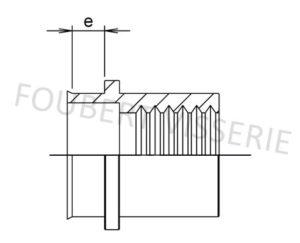 2-plan-Ecrou-a-sertir-cylindrique-tete-reduite-lisse-ouvert-acier