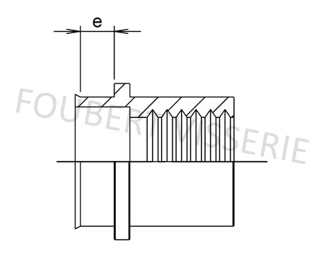 2-plan-Ecrou-a-sertir-cylindrique-tete-reduite-lisse-ouvert-inox