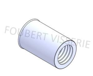 Ecrou-a-sertir-cylindrique-tete-reduite-lisse-ouvert-acier