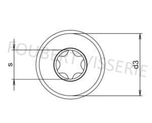 Empreinte-Vis-tete-cylindrique-ronde-torx-nfe25110